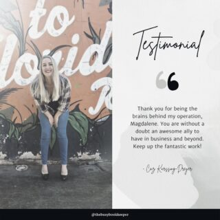 Client testimonials make the late nights and weekend shifts all worthwhile!  We've been serving small business since 2015, and don't intend on packing away our calculators any time soon 💫  Find out more about The Busy Bookkeeper here:   https://thebusybookkeeper.co.za/wp 